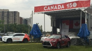 Canada day events stage in oakville
