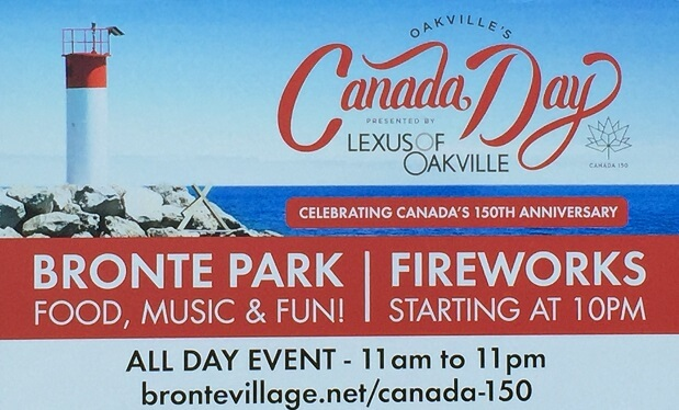 Canada day events oakville